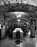 Palace interior. Artistic look in black and white. Royalty Free Stock Images