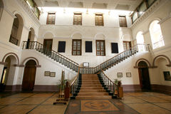 Palace interior wide staircase. White palace interior wide staircase Stock Photos