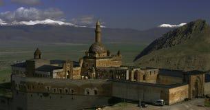 The Palace of Ishak Pasha in Dogubayazit, Turkey royalty free stock photos