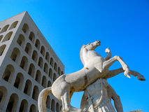 Palace of Italian Civilization. Royalty Free Stock Images