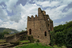Palace of Iyasu, grandson Fasilidas in Fasil Ghebbi site Gonder royalty free stock images