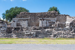 The Palace of the Jaguars. Is located west of the Plaza of the Moon, in San Juan Teotihuacan, Mexico. It's also called the Temple of the Jaguars Stock Photo