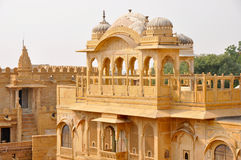 Palace in Jaisalmer. Balcony of a palace in Jaisalmer Stock Images