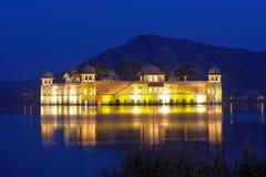 The palace Jal Mahal at night Royalty Free Stock Images
