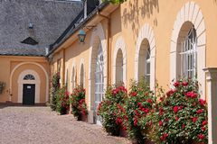 Palace of Johannisberg. Courtyard of Palace of Johannisberg in the Rheingau, Hesse, Germany Stock Images