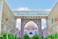 Palace of justice within arch. The dome of the palace of justice in Putrajaya Malaysia Stock Photo
