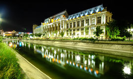 Palace of Justice in Bucharest at night. Royalty Free Stock Photography