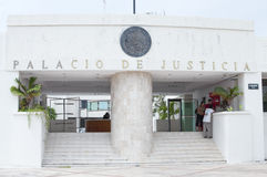 Palace of Justice in Chetumal Stock Photo