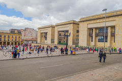 Palace of Justice a cultural and historical. BOGOTA, COLOMBIA - FEBRUARY 9, 2015: Palace of Justice, a cultural and historical landmark in Plaza Bolivar, Bogota Stock Photo