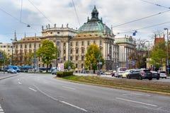 Palace of Justice or Justizpalast on Karlsplatz rlplatz in Munich. Germany royalty free stock image