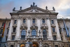 Palace of Justice Justizpalast stock photography