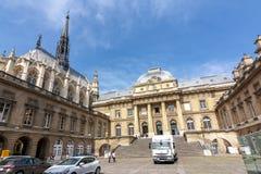 Palace of Justice Palais de Justice and Holy Chapel Sainte Chapelle, Paris, France stock image