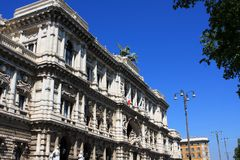 The Palace of Justice, Rome, Italy. The Palace of Justice, the seat of the Supreme Court of Cassation and the Judicial Public Library, Rome, Italy royalty free stock photo