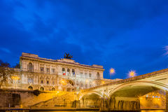 The palace of justice in rome at night Royalty Free Stock Photography