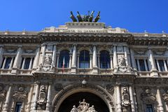 The Palace of Justice, Rome, Italy. The Palace of Justice, the seat of the Supreme Court of Cassation and the Judicial Public Library, Rome, Italy royalty free stock photos