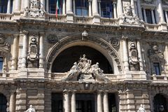The Palace of Justice, Rome, Italy. The Palace of Justice, the seat of the Supreme Court of Cassation and the Judicial Public Library, Rome, Italy stock photos