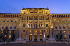 Palace of Justice, at night - landmark attraction in Vienna, Austria Stock Images