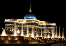 Palace of the Kazakhstan's president in Astana Royalty Free Stock Images