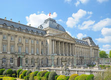 Palace of the king in center of Brussels Stock Image