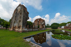 The palace of King Narai the great. Ancient remains Lop Buri thailand Stock Images