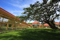 Palace of the king. The summer palace of the king at Hua Hin - Cha Am in Thailand stock photo