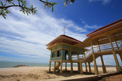 Palace of the king. The summer palace of the king at Hua Hin - Cha Am in Thailand stock photos