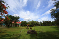 Palace of the king. The summer palace of the king at Hua Hin - Cha Am in Thailand stock image