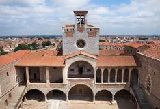 Palace of the Kings of Majorca. In Perpignan, France Stock Photos