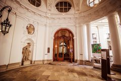 Palace Kinsky in the center of Vienna, Austria Royalty Free Stock Image