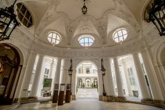 Palace Kinsky in the center of Vienna, Austria Stock Image