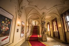 Palace Kinsky in the center of Vienna, Austria Royalty Free Stock Photo