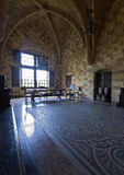 Palace of the Knights at Rhodes. Room inside the palace of the Knights at Rhodes island, Greece Stock Photography