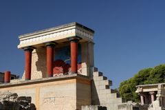 The Palas of Knossos Royalty Free Stock Images