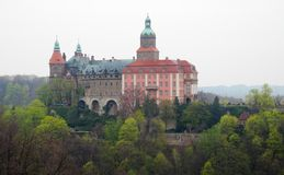 Palace Ksiaz (Furstenstein) - castle in Walbrzych in Lower Silesian Voivodeship, Poland Royalty Free Stock Image