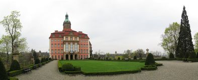 Palace Ksiaz (Furstenstein) - castle in Walbrzych in Lower Silesian Voivodeship, Poland Stock Photo