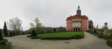 Palace Ksiaz (Furstenstein) - castle in Walbrzych in Lower Silesian Voivodeship, Poland Stock Images