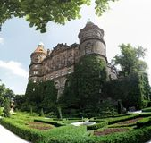 Palace Ksiaz (Furstenstein) - castle in Walbrzych in Lower Silesian Voivodeship, Poland Royalty Free Stock Photography