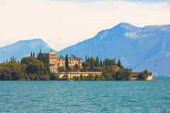 Palace on Lake Garda in Italy Royalty Free Stock Image