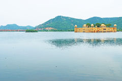 Palace on a lake jaipur india Stock Photo