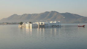 Palace in Lake Pichola Udaipur. Ancient palace in Lake Pichola Udaipur, Rajasthan, India stock footage