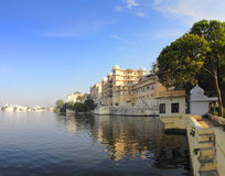 Palace and lake in Udaipur India Royalty Free Stock Image