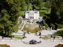 Romantic castle Palace Linderhof - Neo-Rococo style - Germany Stock Photo