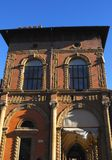 Palace lit by the morning sun in the city center in Bologna in Emilia Romagna (Italy) Stock Photography