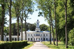 Palace in Lithuania stock photo