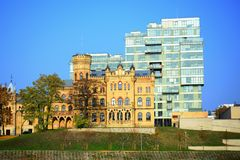 Palace of Lithuanian Architects Union in Vilnius city at autumn time Stock Photos