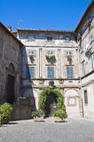 Palace of the Loggia. Bagnaia. Lazio. Italy. Royalty Free Stock Images
