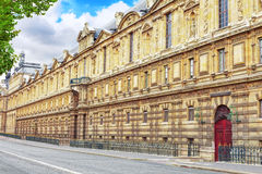 Palace of the Louvre to the waterfront François Mitterrand.Fran Royalty Free Stock Image
