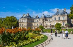 Palace of Luxembourg Gardens, Paris, France. royalty free stock photo