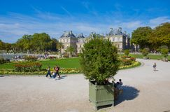 Palace of Luxembourg Gardens, Paris, France royalty free stock images