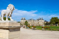 Palace of Luxembourg Gardens, Paris, France. stock photography